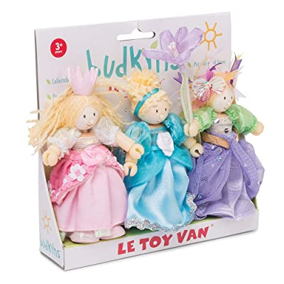 Le Toy Van Budkins Set of 3 Princess Posable Figures Premium Wooden Toys for Kids Ages 3 years & Up: Toys & Games [5Bkhe0301807]