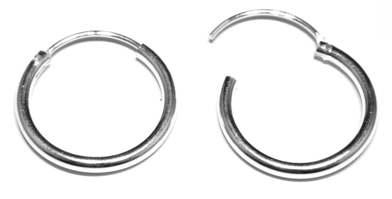 2d5d017dbc3868 Arranview Jewellery 18 mm Diameter Hinged Heavy Weight Sleeper Hoop Earrings  in Sterling Silver: Amazon.co.uk: Jewellery