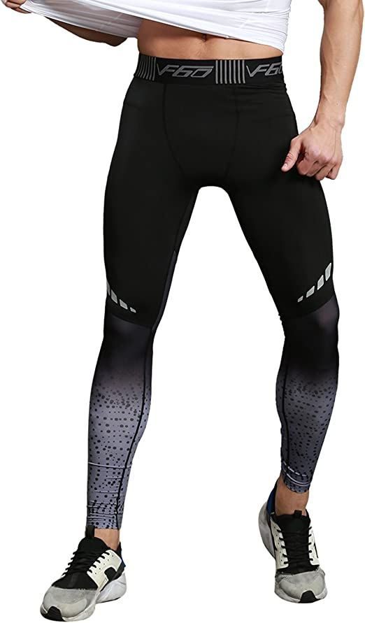Men Compression Pants Sports Capris Pants Tights Base Layers Fitness Training