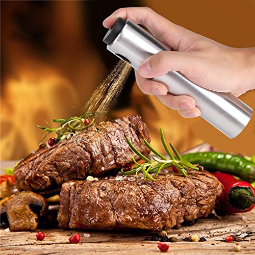 Cooking Tools - Stainless Steel Spraying Oil Bottle Olive Pump Vinegar Sprayer Dispenser Can Jar Pot Bbq Barbecue - Kitchen Carrier Utensil Wood Holder Spray Drawer Adults Rose Cake Gold Cooking