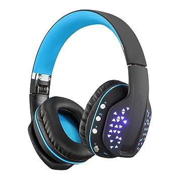 DUHOULI Auriculares Bluetooth Plegables Inalámbricos Deep Bass Estéreo Ps4 Gaming Headset con Mic Led Auricular Manos Libres para Teléfono: Amazon.es: ...