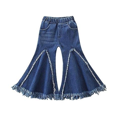 AFFEco - Pantalones vaqueros de verano con borla para niñas ...