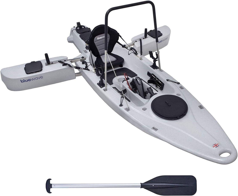 Foldable Stabilisers Bluewave Trident MOTORISED FISHING KAYAK Powerful Motor Foot Steering Stand Up Option