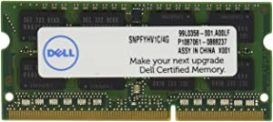 Dell Computer 4 GB Certified Replacement Memory Module for Laptop (SNPFYHV1C/4G)