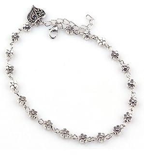 Kingfansion Girl Fashion Simple Heart Ankle Bracelet Chain Beach Foot Sandal Jewelry