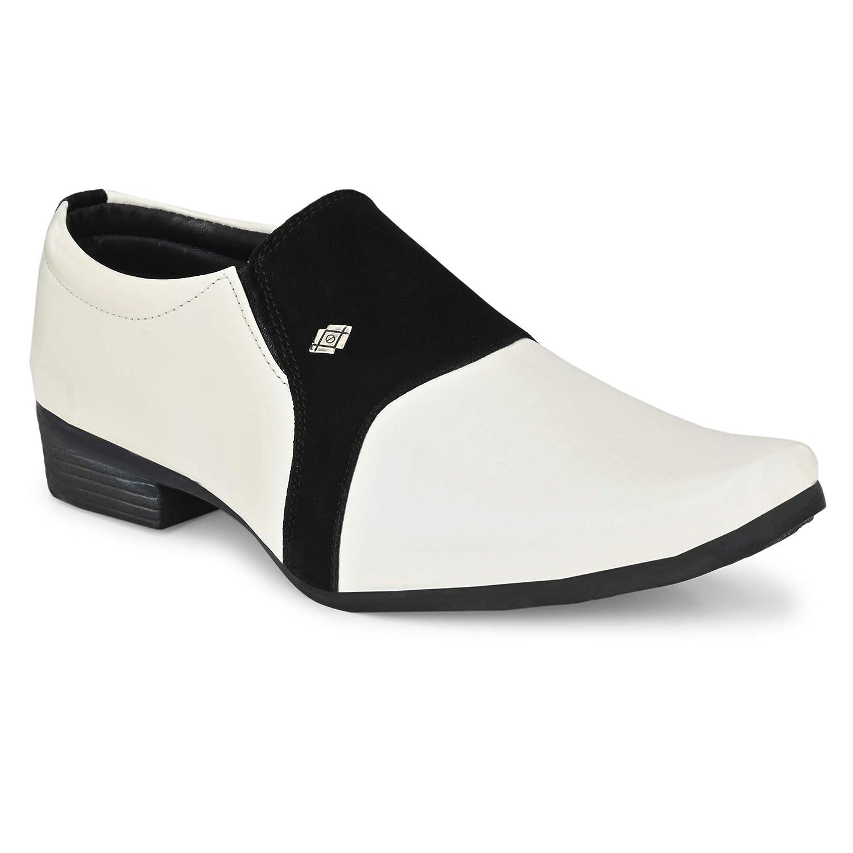 Buy Desi Saga White Black Formal Shoes