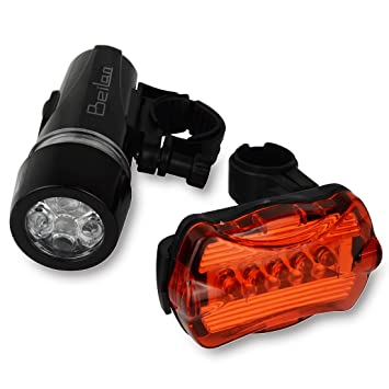 Bike Bicycle LED Headlamp Flashlight Front Head Light Rear Tail Warning Lamp SA