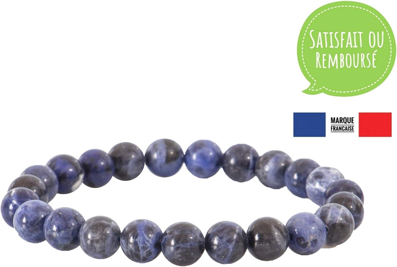Garaulion - Pulsera de piedra natural para hombre y pareja, perla semipreciosa, 8 mm