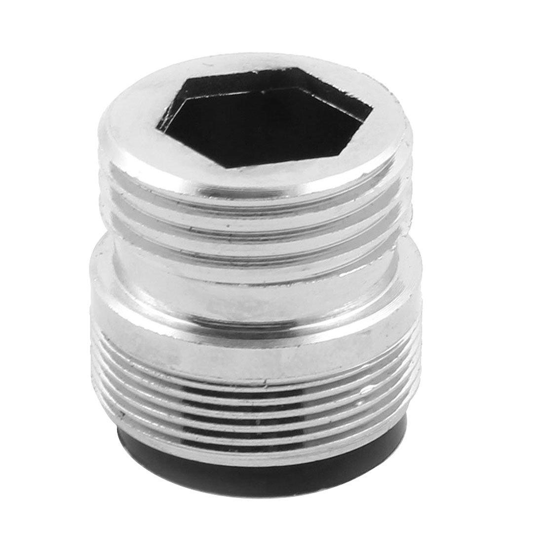 sourcing map Haus Kü chenarmatur Adapter Wasserhahn Schalteranschlussverbinder Silber Ton