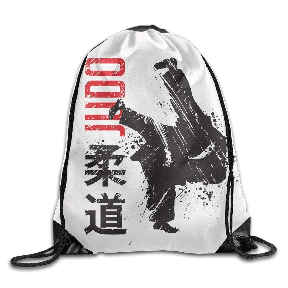 Teen Young Girls & Boys Judo Lightweight Removable Waterproof String School Teamsport Formation Pocket Gymbag Gym Drawstring Bags Sackpack Use Usvbzd