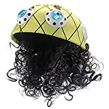 musykrafties Comic Inspired Pirate Captain Hat with Curly Wig and Telescope Party Costume Brimless Cap
