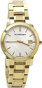 ساعة بربري للسيدات بسوار ستانلس ستيل ولون ذهبي سويسري 34 ملم BU9103