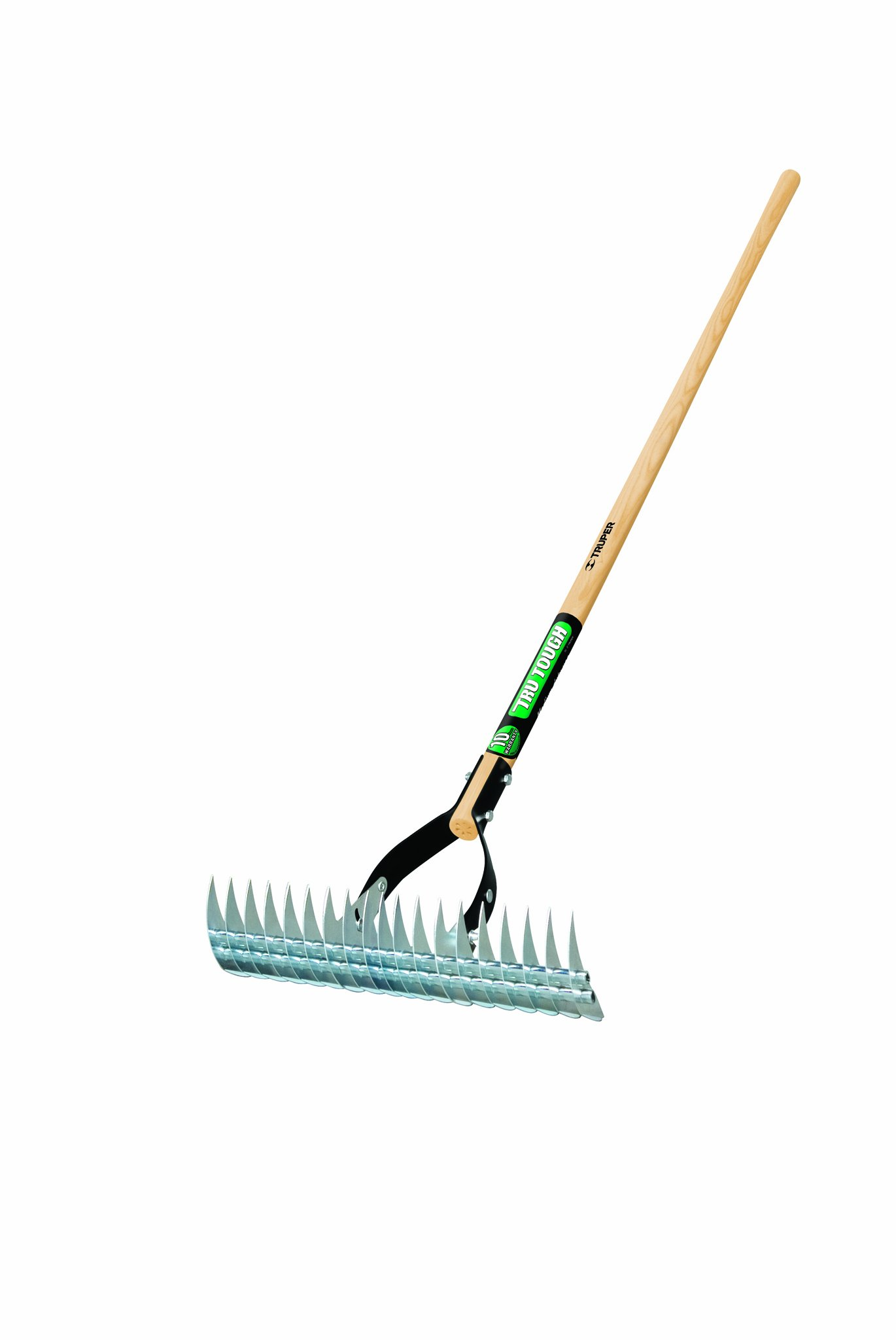 Truper 32120 Tru Tough Thatching Rake, Wood Handle, 54-Inch