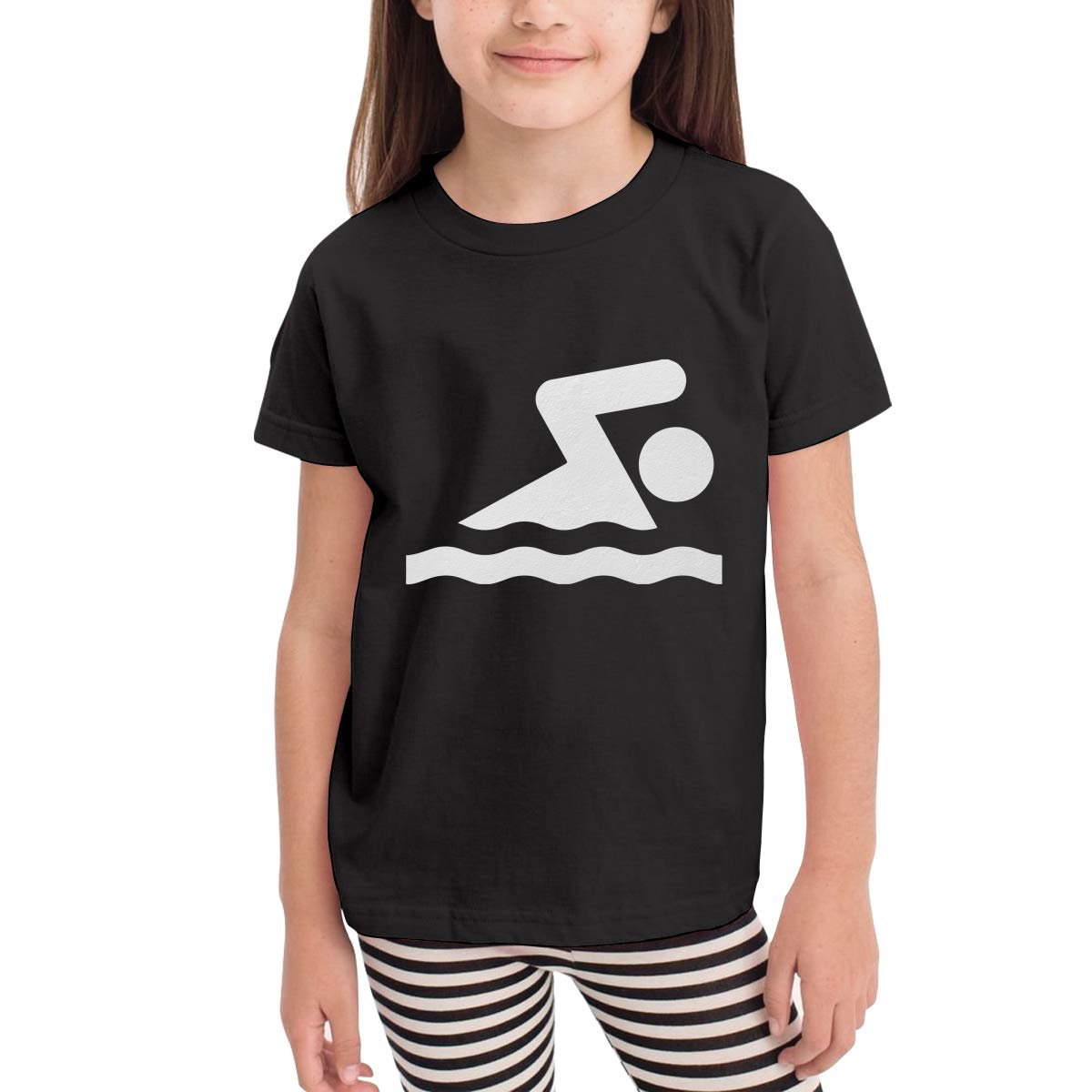 Onlybabycare Swimming Swimmer 100/% Cotton Toddler Boys Girls Kids Short Sleeve T Shirt Top Tee Clothes