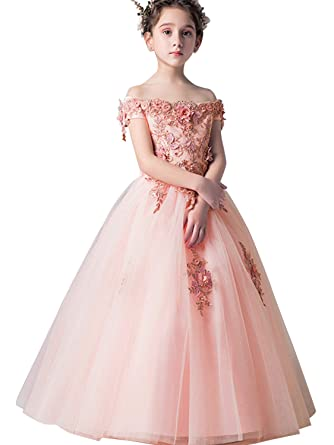 79e759f8be0ae Babyonlinedress 3-10Y Girls Kids Flower Princess Wedding Prom Party Dress  Pink 100