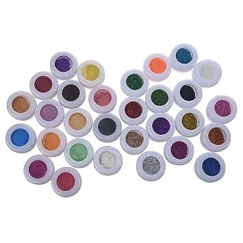 Amazon.com : TOOGOO(R) 30 Mix Powder Pigment Glitter Mineral ...