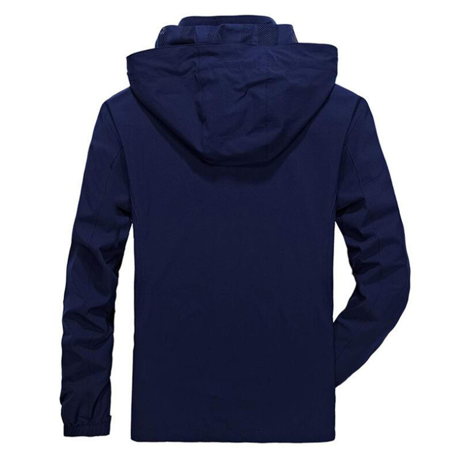 New Mens Autumn Jacket Casual Hooded Collar L-4XL Quick ...