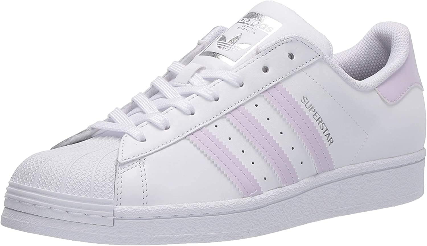 adidas Originals Damen Superstar Turnschuh Weiß Lila Tönung Silber Metallic
