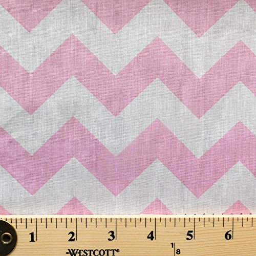 Big Chevron Pink Poly Cotton 60 Inch Fabric By the Yard (F.E.)