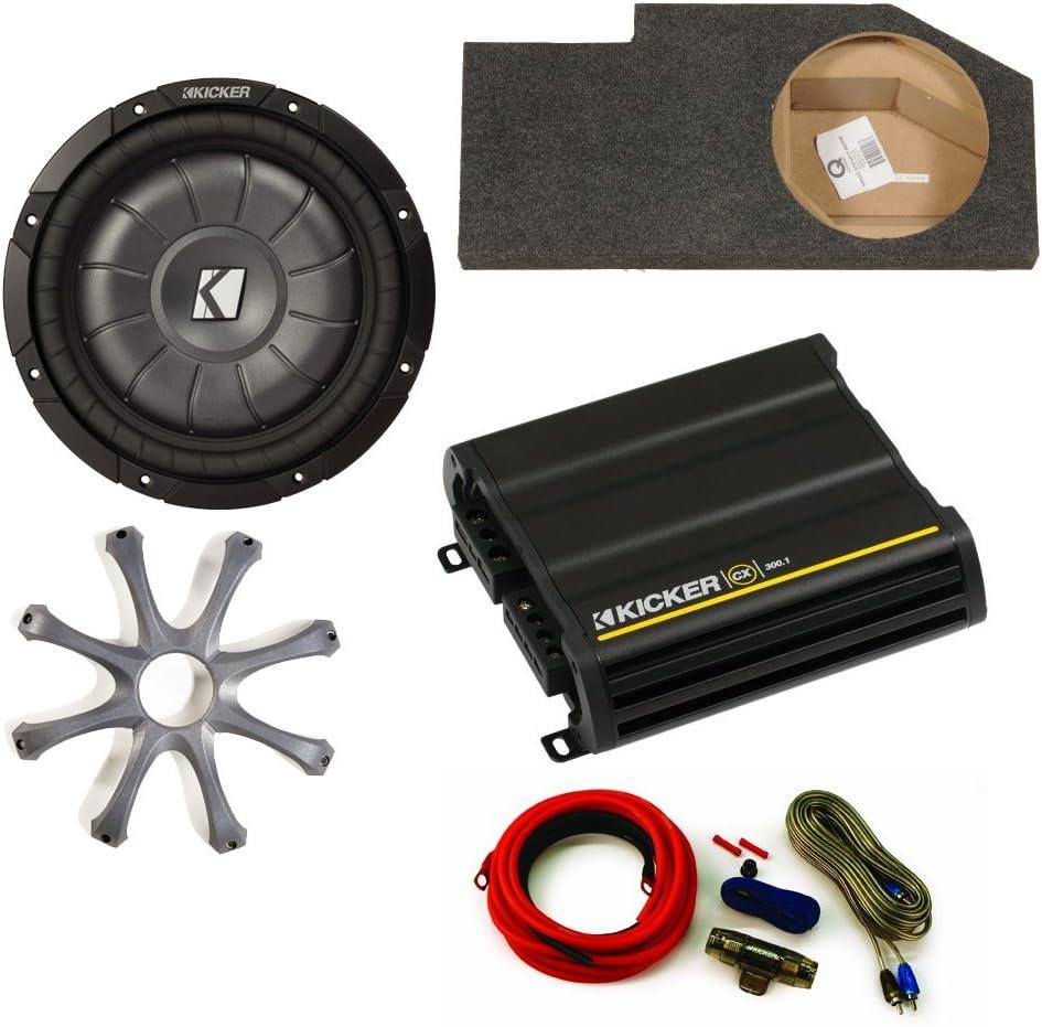 Kicker para Dodge Ram Quad/tripulación Cabina 02 – 15 – 12 compvt Sub en sillín Caja w/Rejilla, 300 W Amplificador Kit de cableado y: Amazon.es: Electrónica