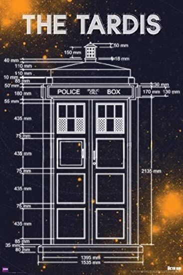 Amazon doctor who tardis blueprint measurements 24x36 amazon doctor who tardis blueprint measurements 24x36 television poster police call box posters prints malvernweather Gallery