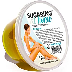 Sugaring Hair Removal Paste Hard for Personal Use on Bikini, Brazilian, Arms, Legs, Back 12 oz.