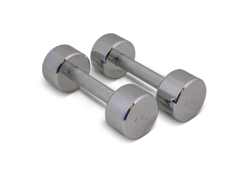 TRENAS Una mancuerna cromada - entrenamiento con pesas - 1 x 22,5 kg: Amazon.es: Deportes y aire libre