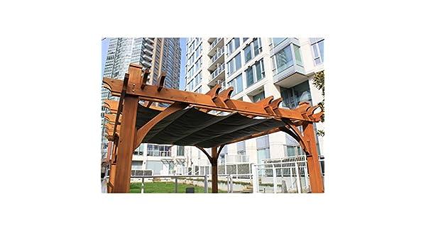 Amazon.com : 10u0027x12u0027 Breeze Pergola With Retractable Canopy : Garden U0026  Outdoor