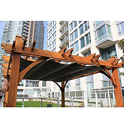 10'x12' Breeze Pergola with Retractable Canopy - Amazon.com : 10'x12' Breeze Pergola With Retractable Canopy : Garden