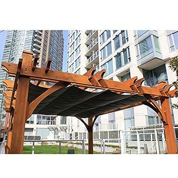 10u0027x12u0027 Breeze Pergola With Retractable Canopy