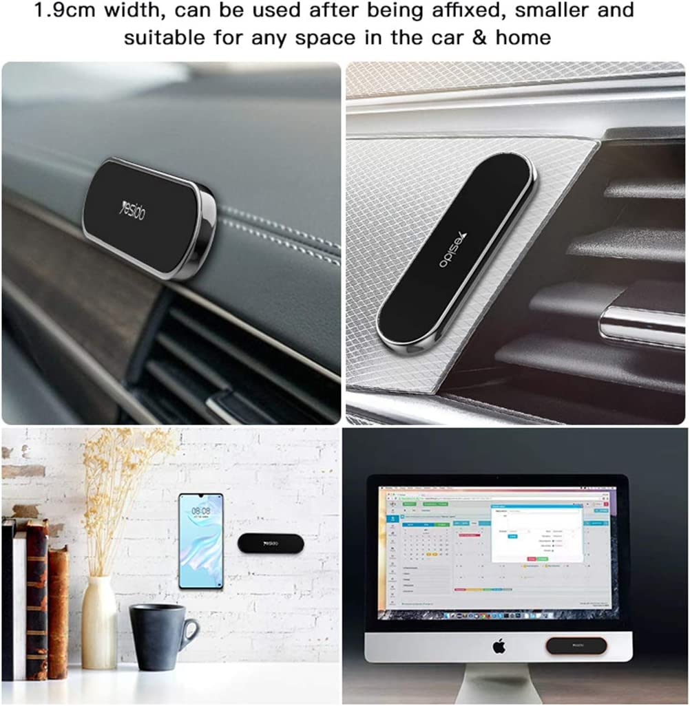 Mini Magnetic Car Mount for Cell Phone,360 Rotation Cell Phone Holder Compatible with All Phones