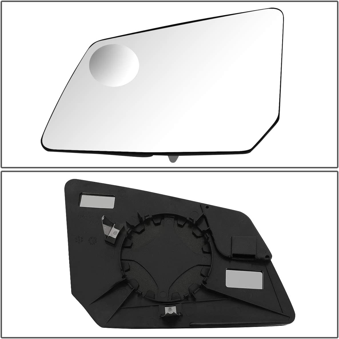 OE Style Driver Left Side Mirror w//Round Spotter Glass Plate Replacement for Chevy Traverse GMC Acadia 09-17