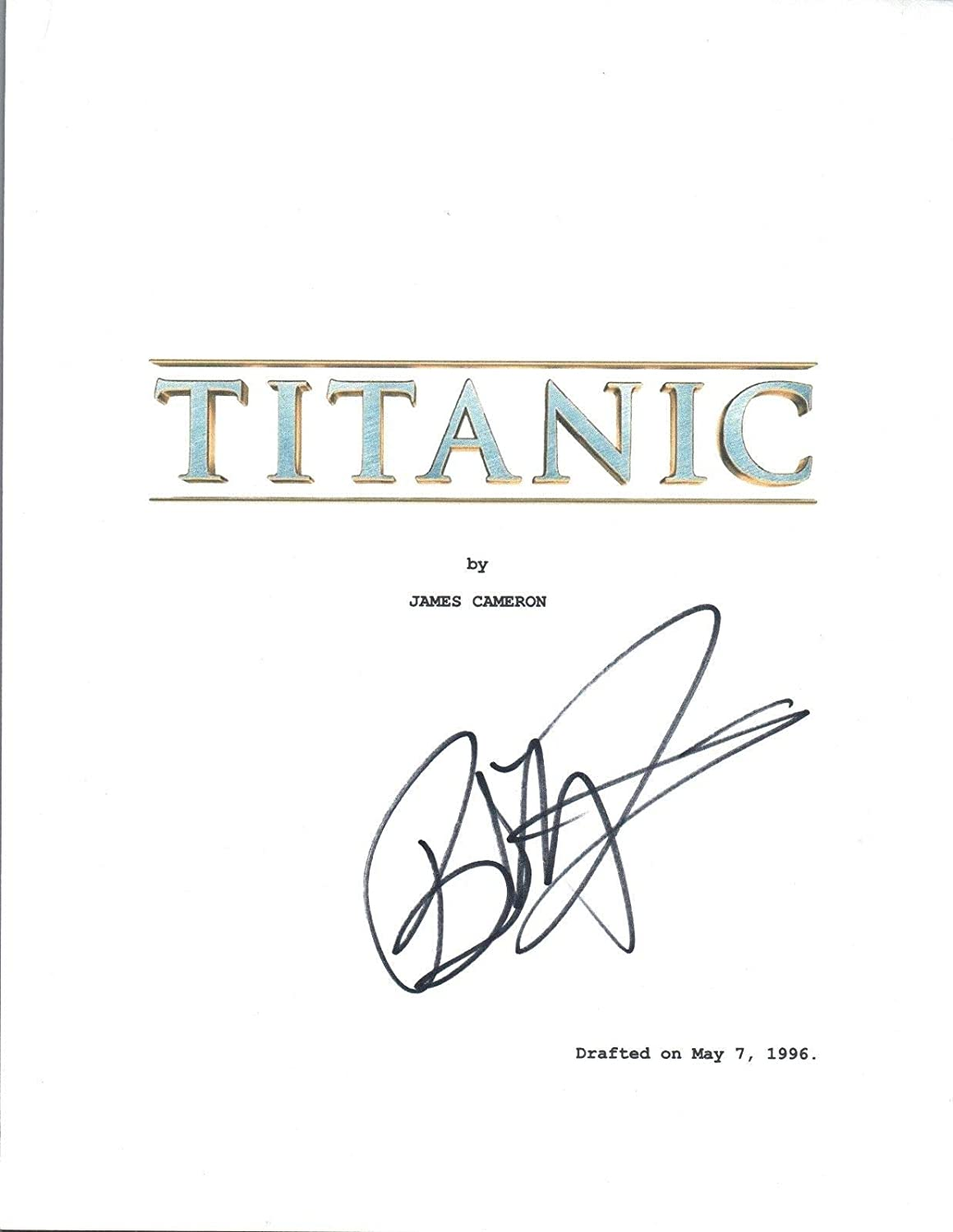 Billy Zane Signed Autographed TITANIC Full Movie Script COA Unbranded