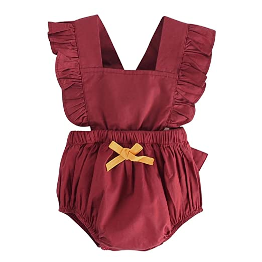 7b8f9f20b44 OUBAO Baby Romper Summer Newborn Toddler Infant Boy Girl Sleeveless Bowknot  Rompers Tops Jumpsuit Bodysuit Outfits
