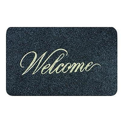 GreCute CCD5080-GR Front Doormat Welcome Scraper Entrance Door Mat
