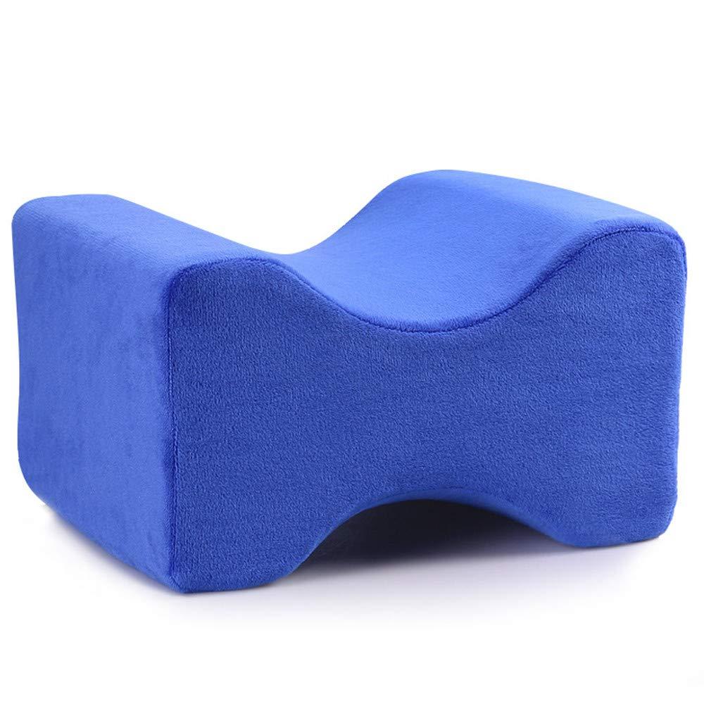 ZJDU Orthopedic Knee Pillow for Sciatica Relief, Back Pain, Leg Pain, Pregnancy, Hip and Joint Pain - Memory Foam Wedge Contour,RoyalBlue,2pcs