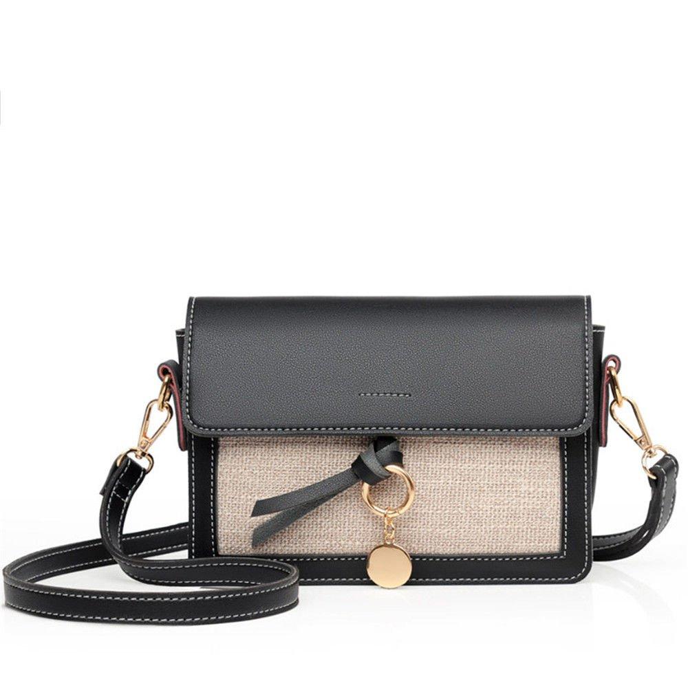 Lady'S Shoulder Bag Summer Single Shoulder Bag,Black,21X15X7Cm