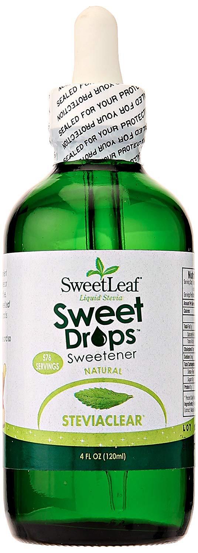 Liquid Stevia Sweetener, Steviaclear, 4 Oz (3 Pack) by Sweet Drops