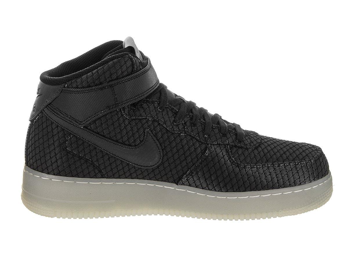 Nike Men Air Force 1 Mid '07 Lv8 (black black white metallic silver)