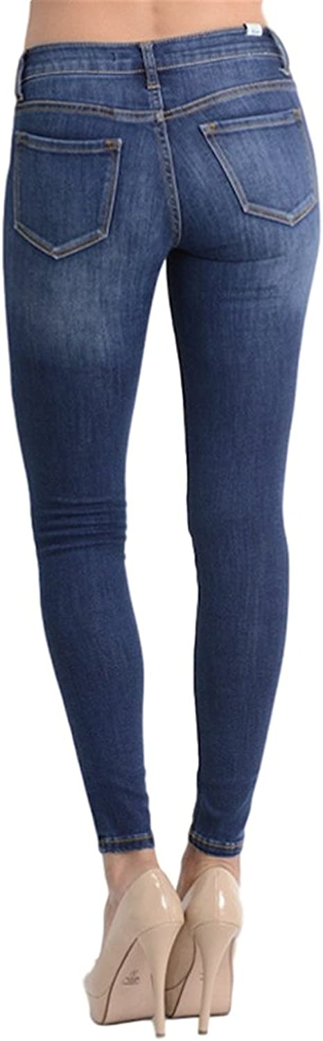 Amazon.com: Kan Can Womens Mid Rise Super Skinny Jeans ...