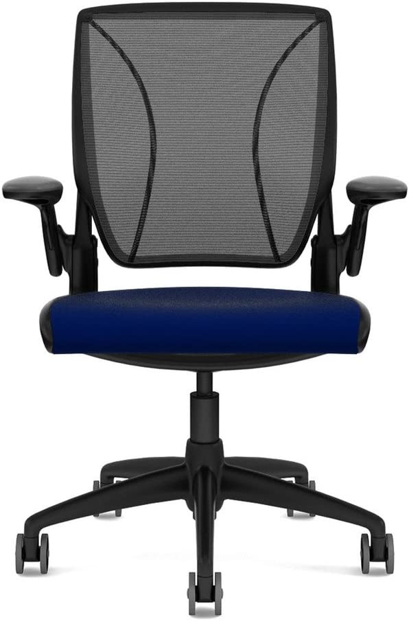 Humanscale Diffrient World Office Chair - Black Back, Vellum Navy Seat