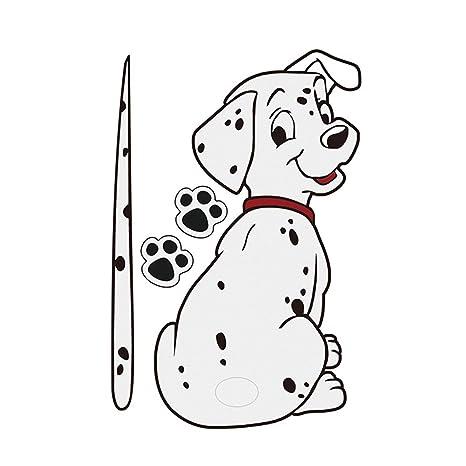 Divertidos dibujos animados manchado modelo del perro del parabrisas etiqueta engomada del coche limpiaparabrisas trasero calcomanías