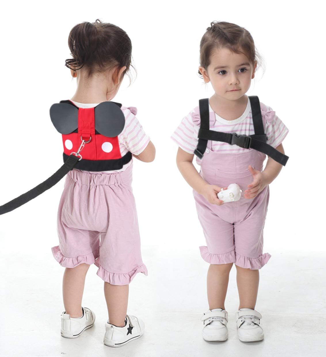 Idefair Kids Harness Kids Walking Leash Safety,Baby Anti Lost Safety Harness,Toddler Harness Safety Leashes for 1-5 Years Old Boys and Girls - Red by Idefair (Image #3)
