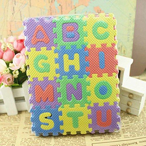 hiriyt 36PCS Baby Kids Alphanumeric Educational Puzzle Foam Mats Blocks Toy Gift Puzzle Play Mats