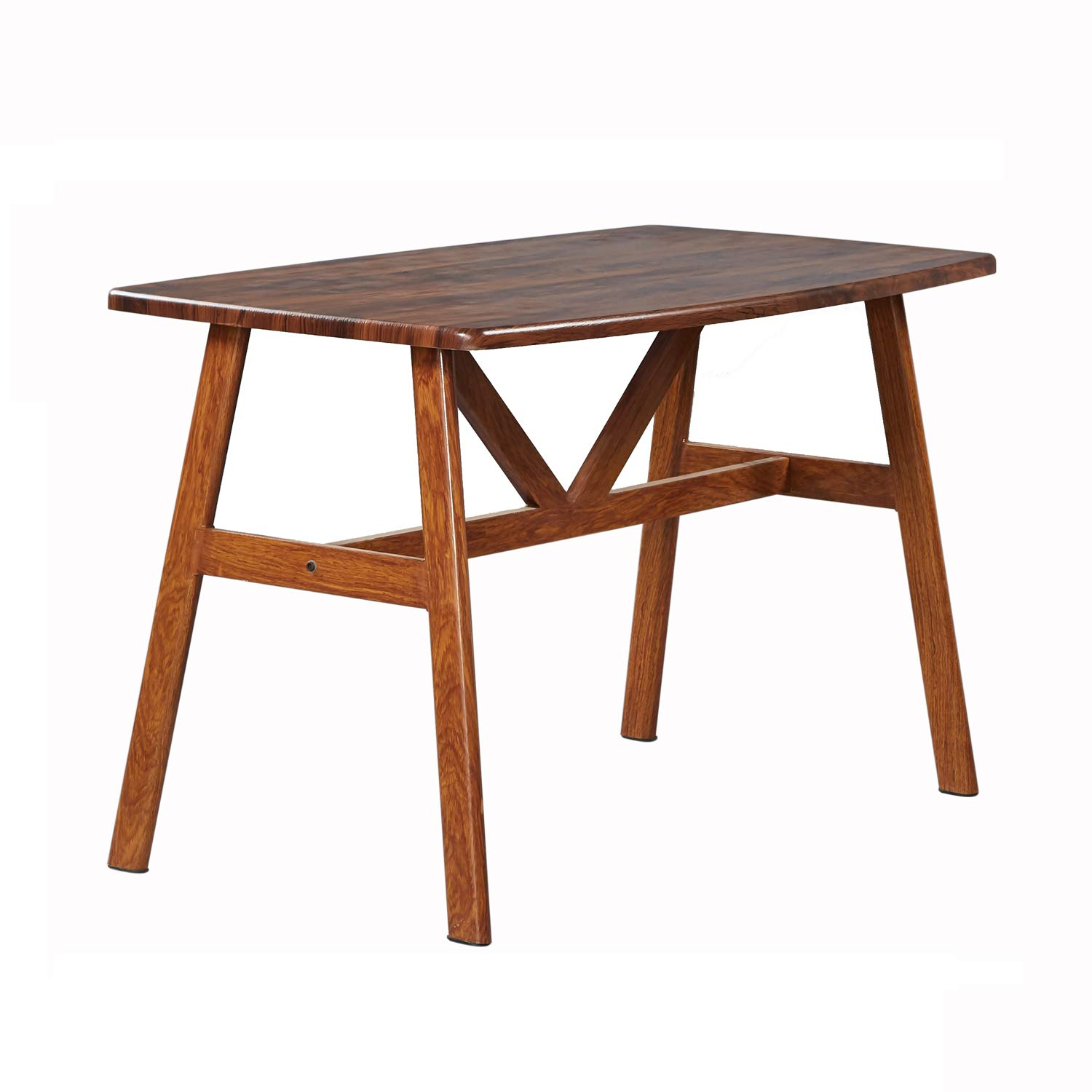 GreenForest Dining Table Modern Wood Top with Metal Legs Dining Room Table 48'' x 28'' Walnut