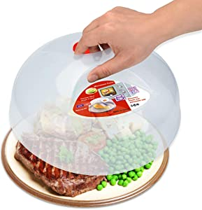 Microwave Splatter Cover, Microwave Cover for Food, Large Microwave Plate Cover Guard Lid with Steam Vents Keeps Microwave Oven Clean, 11.5 Inch BPA Free & Dishwasher Safe