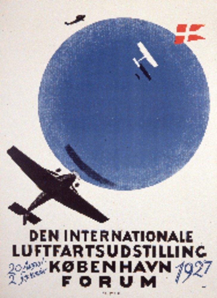 Den Internationale luftfartsudstillingヴィンテージポスター(アーティスト: Andersen )デンマークC。1927 36 x 54 Giclee Print LANT-74907-36x54 B01M7TBCKD  36 x 54 Giclee Print