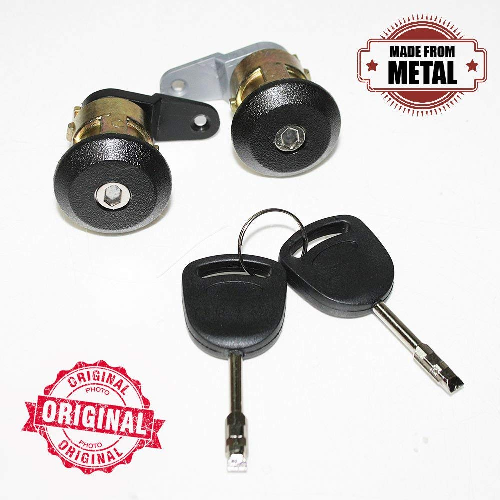 Door Lock 2 Keys Barrel Set Front Left Right Compatible With Fiesta Escort Courier KA