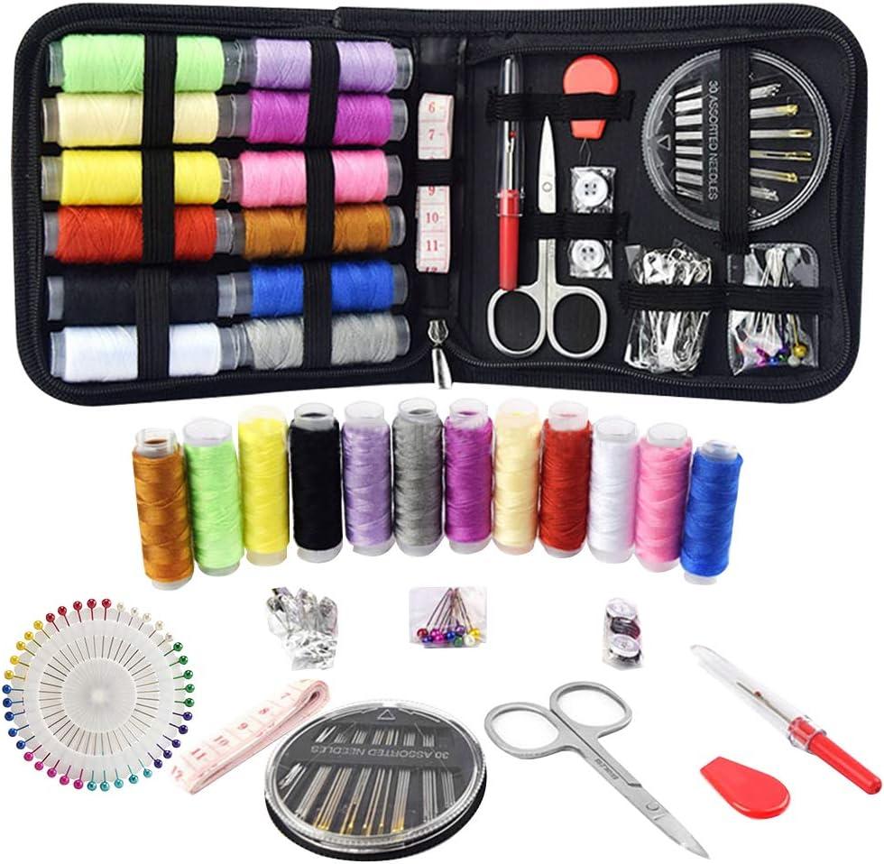 BEYAOBN Kit de Costura,112 piezas Accesorios de costura premium,Set de Costura Port/átil Basico Kit Coser Profesional para Sastre,Familia,Principiante,Hogar,Viajes