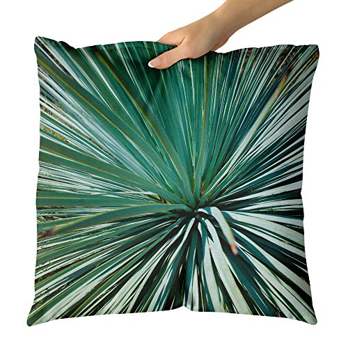 Westlake Art - Green Wallpaper - Decorative Throw Pillow Cushion - Picture Photography Artwork Home Decor Living Room - 18x18 Inch - Flora Palmetto Saw